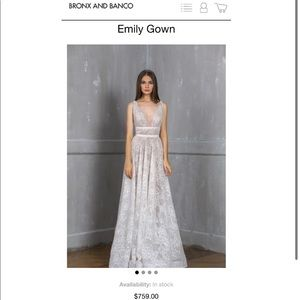 SALE!!!New! Bronx and Banco EMILY GOWN
